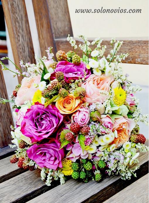 Trajes de novio - Ramo de flores